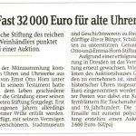 Die Hornsche Stiftung des reichen Meißner Weinhändlers punktet erneut bei einer Auktion.